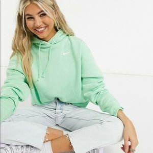 Nike pullover fleece sweatshirt hoodie crew neck neon